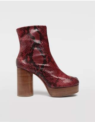 Maison Margiela Tabi Python-Effect Platform Boots