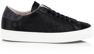 D.A.T.E Curve Glitter Leather Sneakers