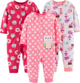 Simple Joys by Carter's 3-pack Loose Fit Flame Resistant Fleece Footless Pajamas Sleepers