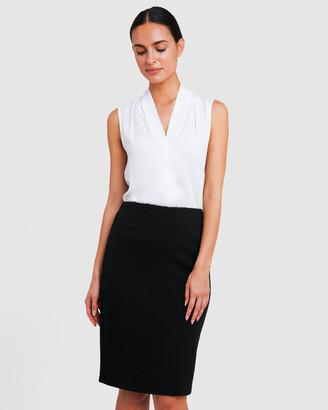 Forcast Joslyn Textured Pencil Skirt