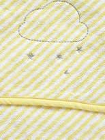 Striped Bath Cape - yellow/white, Furniture & Bedding   Vertbaudet