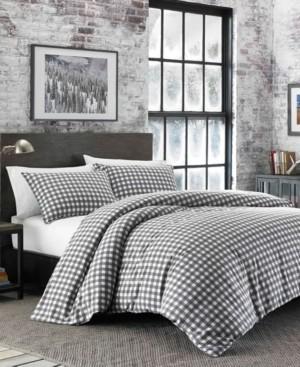 Eddie Bauer Preston Twin Dark Grey Flannel Comforter Set