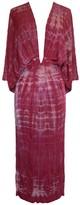 Riona Treacy Tie Dye Pink Backless Kimono Dress