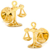 Cufflinks Inc. Moving Parts Golden Scales of Justice Cuff Links