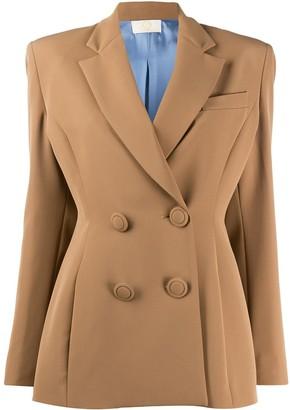 Sara Battaglia Tailored Double-Breasted Blazer