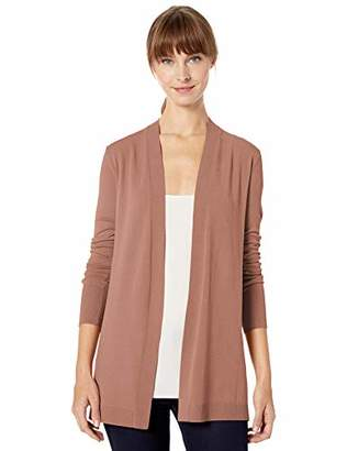 Lark & Ro Lightweight Long Sleeve Mid-Length Cardigan Sweater,L