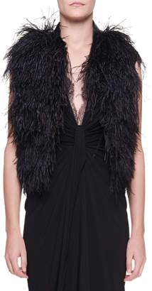 Tom Ford Ostrich Feather Organza Vest