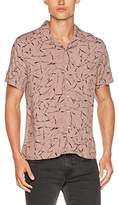 New Look Men's Antler Print Revere Casual Shirt