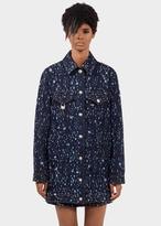 Versace Laser Cut Denim Caban Jacket