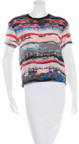 Opening Ceremony Silk Short Sleeve Top