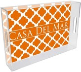 The Well Appointed House Chelsea Grande Orange Personalized Lucite Tray-Available in Two Different Sizes