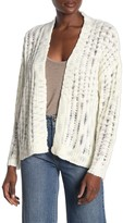 Cotton On Open Front Ladder Knit Cardigan