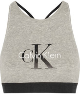 Calvin Klein Underwear Retro Stretch-cotton Soft-cup Bra - Stone