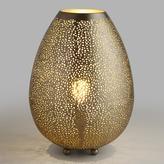 Cost Plus World Market Pewter Teardrop Mina Table Lamp