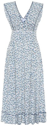 Poupette St Barth Daisy floral midi dress