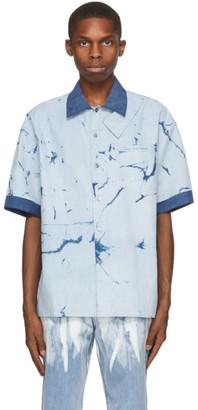 Feng Chen Wang Blue Resist Dyed Short Sleeve Shirt
