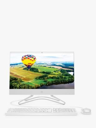 HP 22-c0054na All-in-One Desktop PC, Intel Pentium Processor, 4GB RAM, 1TB HDD, 21.5 Full HD, Snow White