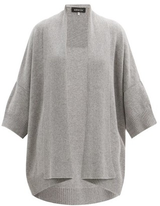 eskandar Waterfall-collar Cashmere And Silk Cardigan - Grey