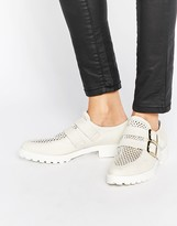Miista Bhu Buckle Leather Flat Shoes