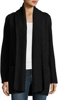 Vince Open-Front Car Coat Sweater, Charcoal