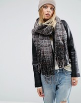 Asos Oversized Long Woven Scarf in Multi Boucle