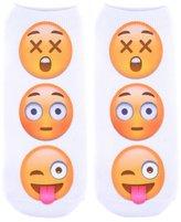 Jiayiqi Men's Funny Facial Expression Dri-Tech Comfort Quarter Socks