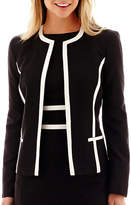 Evan Picone BLACK LABEL BY EVAN-PICONE Black Label by Evan-Picone Contrast-Trim Jacket