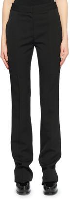Stella McCartney Flat-Front Straight-Leg Wool Pants w/ Elongated Pockets