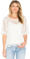 Velvet by Graham & Spencer Colleen Lace Top in White. - size S (also in )