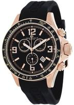 Oceanaut OC3347 Men's Baltica Black Silicone Watch with Chronograph