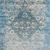 """Persian Rugs Distressed Vintage Antique Area Rug, Blue, 6'5""""x9'2"""""""