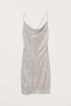 H&M Shimmering metallic dress