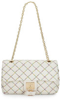 Betsey Johnson Cotton Candy Quilted Shoulder Bag, Cream