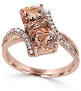 Effy Morganite (1-9/10 ct. t.w.) and Diamond (1/6 ct. t.w.) Ring in 14k Rose Gold