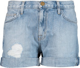 Current/Elliott The Rolled Boyfriend distressed denim shorts