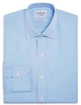 Ledbury Small Gingham Check Slim Fit Dress Shirt