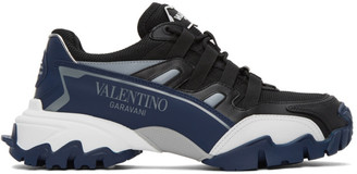 Valentino Black and Navy Garavani Climber Sneakers