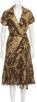 Diane von Furstenberg Metallic Patterned Dress w/ Tags
