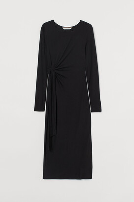 H&M MAMA Tie-detail jersey dress