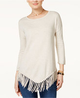 INC International Concepts Fringe-Trim Sweater, Only at Macy's