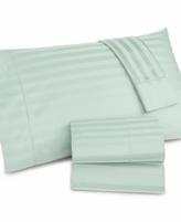 Charter Club CLOSEOUT! Damask Stripe Twin 3-pc Sheet Set, 500 Thread Count 100% Pima Cotton