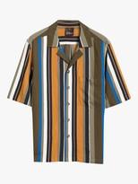 Oscar Jacobson Hilmer Stripe Short Sleeve Shirt, Orange