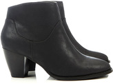 Black Western Ankle Boot
