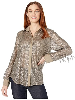 Double D Ranchwear Champagne Toast Top (Elk Horn) Women's Clothing