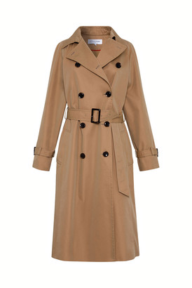 Gerard Darel Domenica - Belted Cotton Canvas Trench