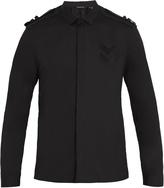 Neil Barrett Shoulder-epaulette cotton-poplin shirt