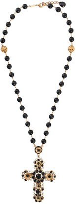 Dolce & Gabbana filigree cross pendant necklace