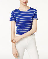 Kensie Striped Tie-Detail Top