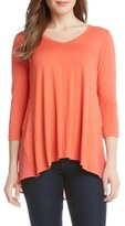 Karen Kane Contrast Back V-Neck Top