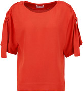 See by Chloe Laced-shoulder crepe top